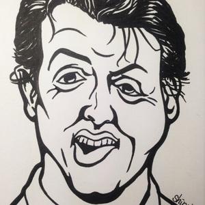 手描き似顔絵モノトーン ポストカードサイズに1名様お描きします。