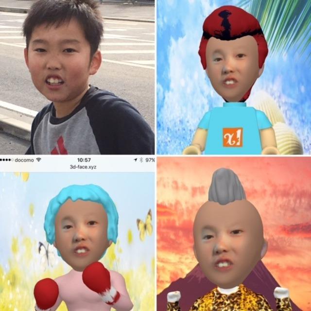 1枚の顔写真を3D立体化