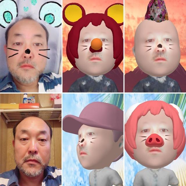 似顔絵やSNOWから3Dデジタル似顔絵作製し、3方向(前・左右)画像にて納品