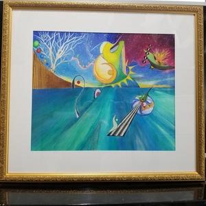 アクリル絵の具、絵、抽象画