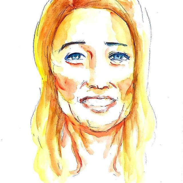 水彩で素敵な似顔絵を描きます