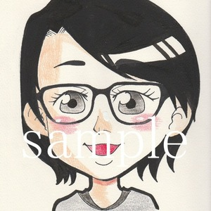 手書きで温かみのある似顔絵お描きします!