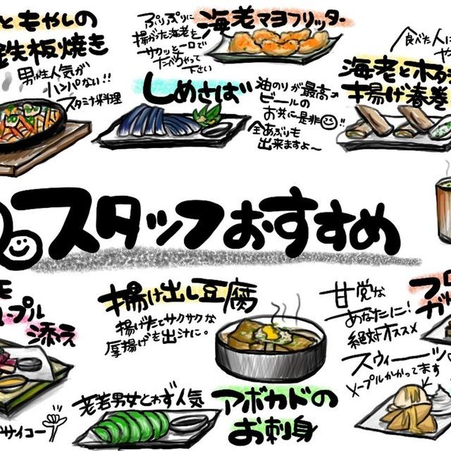 飲食店、雑貨屋さんのPOPを描きます!