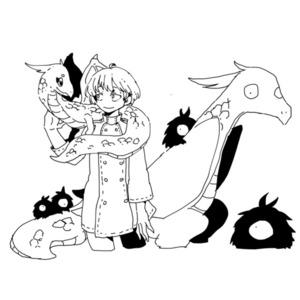 【お任せ作画】ラフタッチ線画イラスト