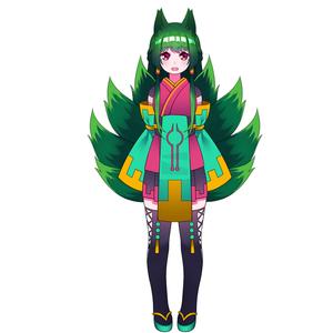 Live2D用のキャラクターデザイン