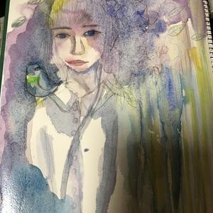 水彩でおんなのこイラスト描きます!