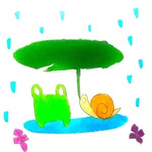 雨の日のカエル達。