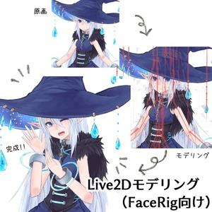 Live2Dモデリング(FaceRig向け)