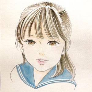 透明水彩と色鉛筆で似顔絵をお描きします!