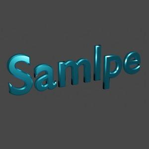 文字や簡単なイラストを3Dに起こします!