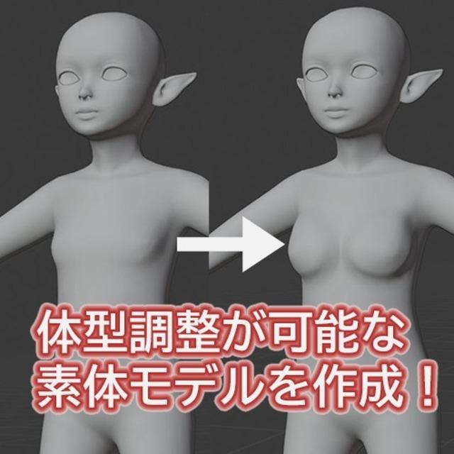 3Dアバターモデルの素体制作承ります