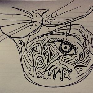 ボールペン絵描きます