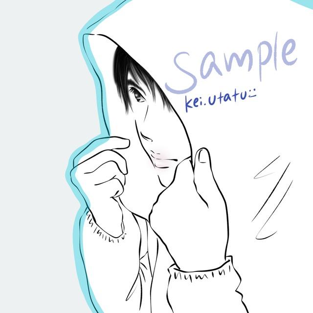 あなたの写真からkei的画風でイラスト化します(シンプル ほぼ単色)