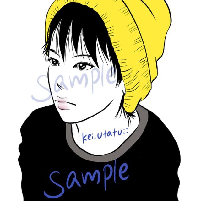 あなたの写真からkei的画風でイラスト化します(シンプル・2色程度着色)