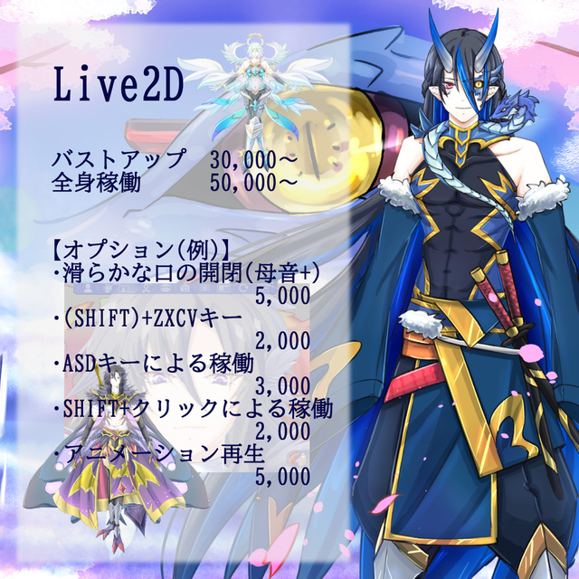 Live2Dモデリング【facerig対応可】