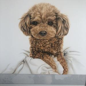 ペットのリアル絵(原画販売、アナログ