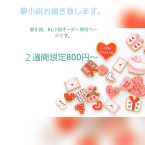 夢小説、BL小説オーダー専用
