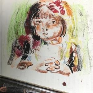 絵画風のキャラに仕上げます。