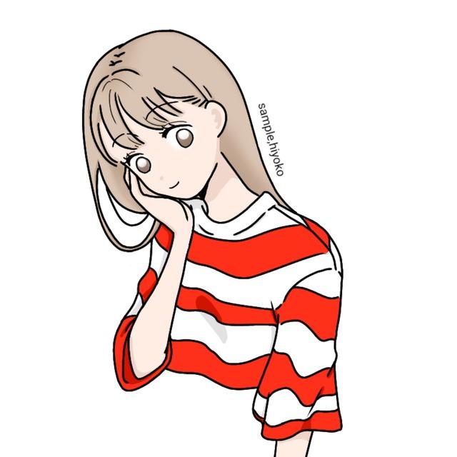 シンプルな女の子 スキマ スキルのオーダーメイドマーケット Skima