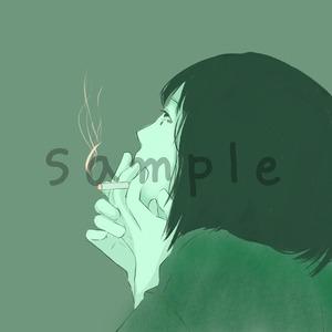 写真を元に似顔絵イラストを描きます