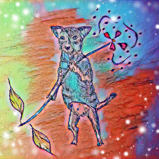 イラスト(癒しの犬)【電子データ】