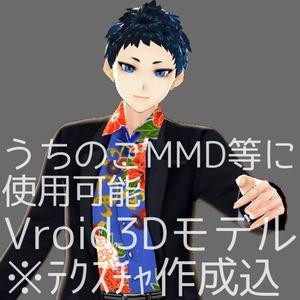 Vroidを使用して3Dモデルを制作します。うちのこMMD等ご自由にどうぞ!