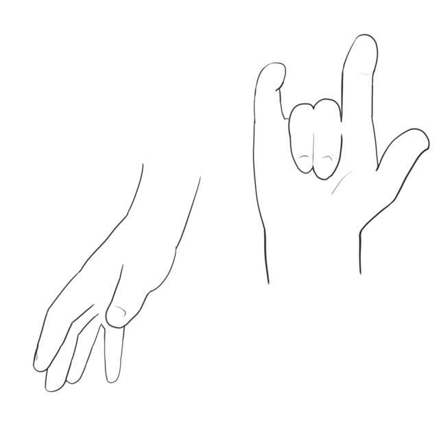 手を描く(2組)