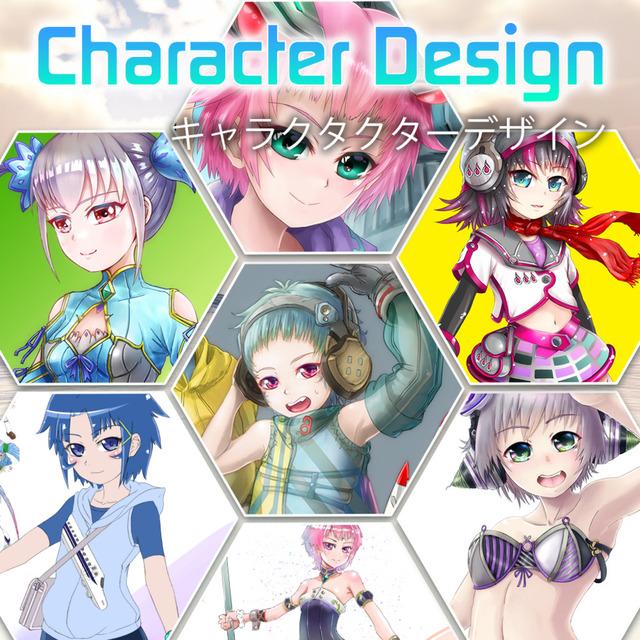 新規キャラクターデザイン・ 立ち絵イラスト