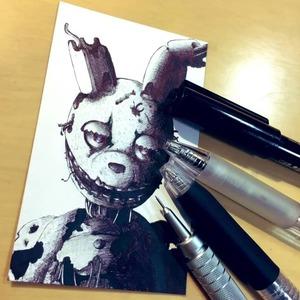 モノクロ画、ボールペン画(白黒、カラー)描きます!