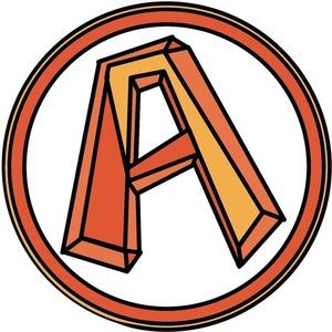 おしゃれな立体アルファベット(例:A)