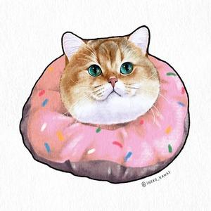 愛猫のイラスト描きます🐱【顔のみ/カラー】