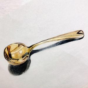 色鉛筆画 ライフスタイルイラスト【カトラリー】