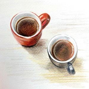 色鉛筆画 ライフスタイルイラスト【カフェ】