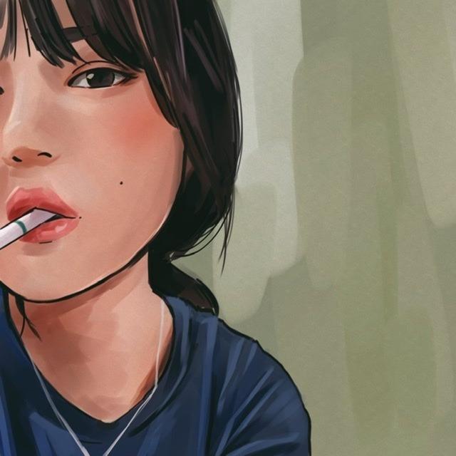 エモい似顔絵を描きます。