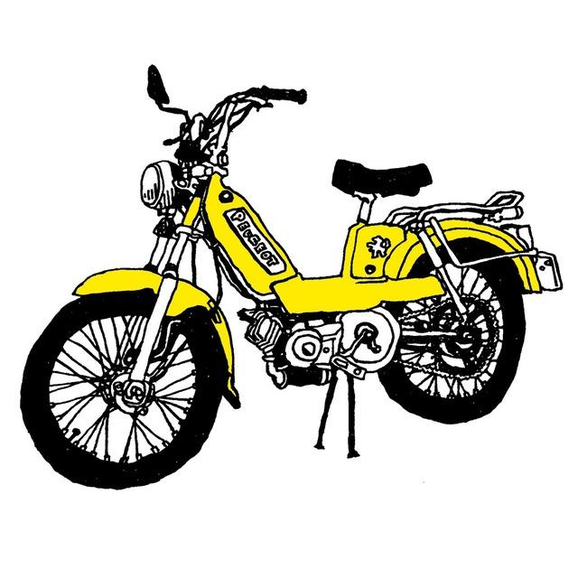 バイク/車/乗り物/おしゃれ/絵/イラスト