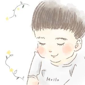 お子さんの 似顔絵 イラスト