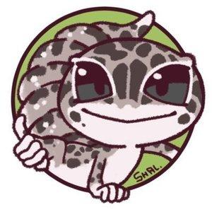 爬虫類などのペットの似顔絵アイコン