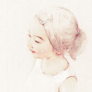色鉛筆画での似顔絵制作