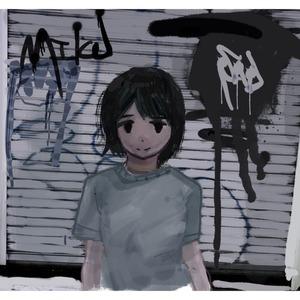 女の子と背景