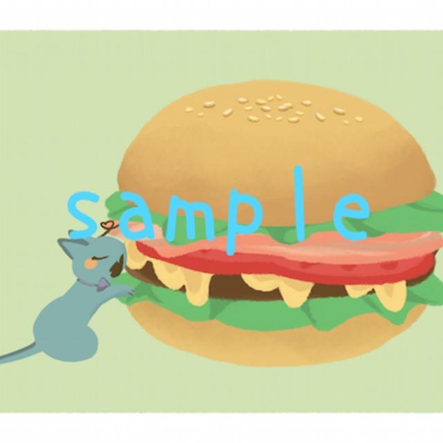 好きな動物+食べ物描かせていただきます!
