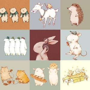 アイコン等に♡手描き風ほっこり可愛い動物のイラスト描きます