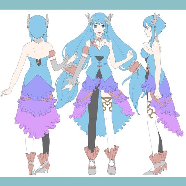 キャラクターデザイン三面図承ります