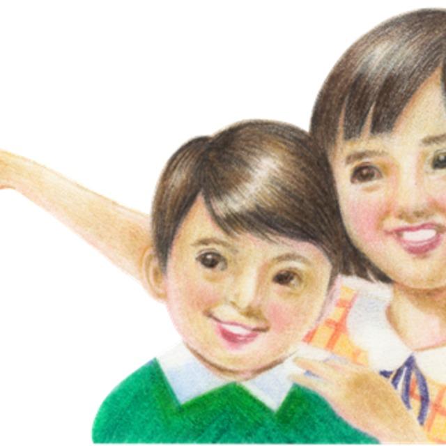 昭和レトロな子供のキャラクター画きます