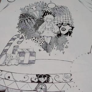 ペン画で描いた物