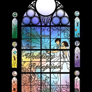 ウェルカムボードDIYに。ステンドグラス風デザイン製作致します。