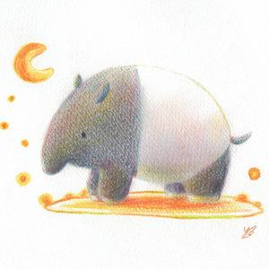 色鉛筆で、やわらかファンタジーなイラストを描きます。