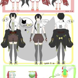 ファンタジー衣装のキャラクターデザイン(ラフ)描きます