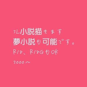 自分好みの小説書きます!(3L、夢可!)