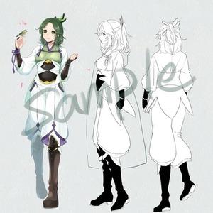 キャラクターデザイン、立ち絵制作など
