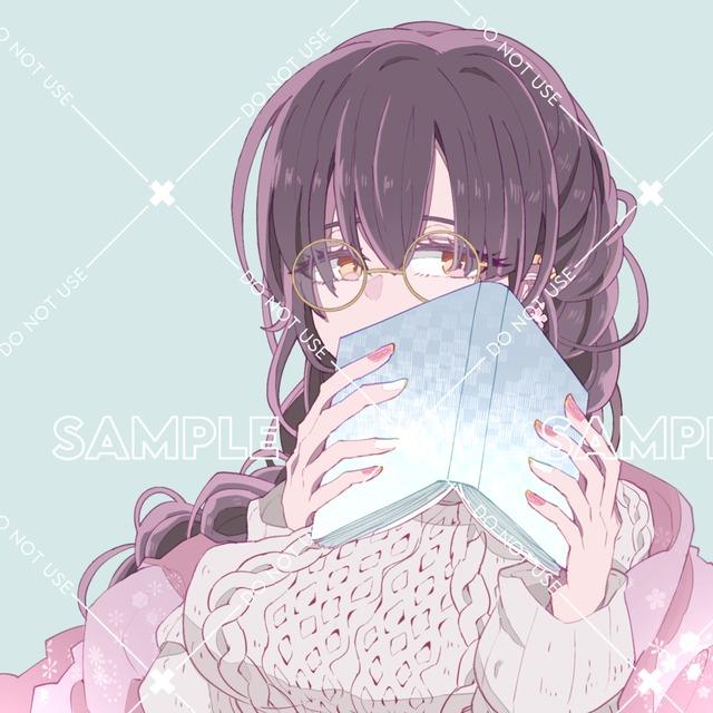 【完成品】SNS用アイコン 本を読むお姉さん